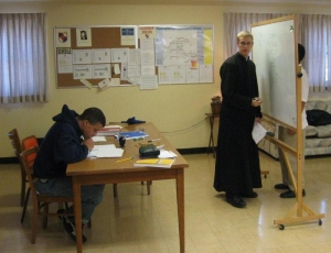 IVE brother teaching in minor seminary