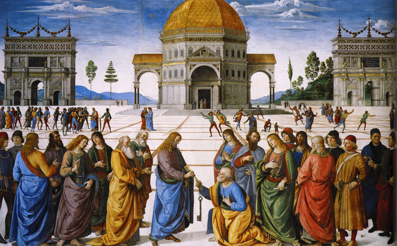Perugino Christ Giving the Keys to St. Peter