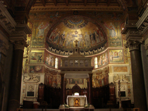 Altar and sanctuary of Santa Maria in Trastevere