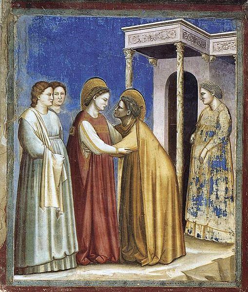509px-Giotto_di_Bondone_-_No._16_Scenes_from_the_Life_of_the_Virgin_-_7._Visitation_-_WGA09192