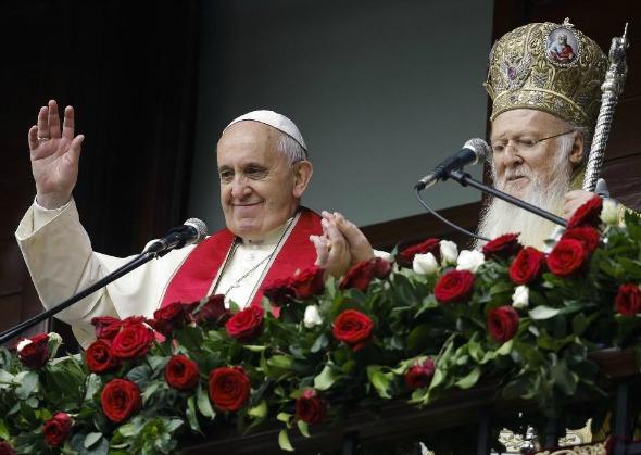 PopeFrancisPatriarchBartholomew1SM